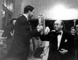 Композитор и дирижер после исполнения оперы. 1972 г.