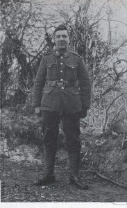Бен Хойл перед отправкой на Западный фронт.