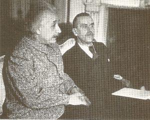 Альберт Эйнштейн и Томас Манн