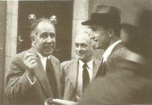 Слева направо: Нильс Бор, Макс Борн, Макс Дельбрюк, 1950-е годы