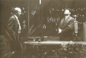 Вернер Гейзенберг(слева) и Дмитрий Иваненко, Лейпциг, 1958 г.