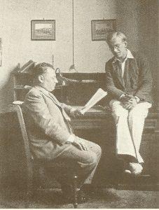 Вольфганг Паулис Георгием Гамовымв кабинете Политехникума в Цюрихе, 1931 г.