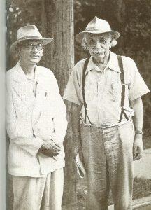 Альберт Эйнштейн (справа) и Курт Гёдель в Принстоне, 1950 г