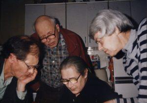 Сергей Ковалев, Андрей Сахаров, Елена Боннэр и Лариса Богораз, 14 января 1987 года