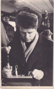 Запись репортажа в «Лыжной стреле». 1973 год