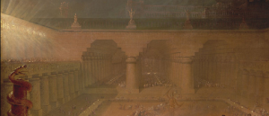 John Martin, Belshazzar's Feast, c. 1821 (fragment from the half-size sketch held by the Yale Center for British Art)