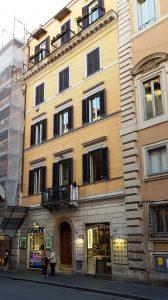 Рис. 7. Дом № 514 на Виа дель Корсо, где в 187–1848 годах жила Маргарет Фуллер. Фото автора статьи.