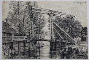 Rappard_Drawbridge 1880.jpg (Антон Ван Раппард. Разводной мост в Лодрехте. 1880 год)