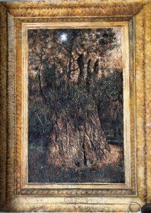 Дерево (олива из Гефсиманского сада). Энкаустика. 2003