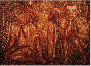 Фрагмент мозаики в пионерском лагере «Таёжный». Красноярский край. 1968