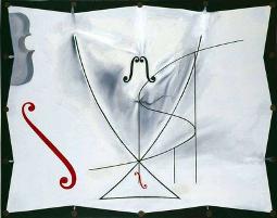 Рис. 1. Эффекты Тома при непрерывной деформации в зазеркалье (картина Сальвадора Дали).