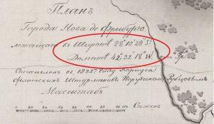 Фрагмент легенды плана г. Нова-Фрибурго. Н. Г. Рубцов (1830 г.)