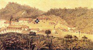Металлургический завод в Сан-Жуан-де-Ипанема. Рис. Дебре (1821 г.)
