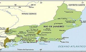 Карта провинции (штата) Рио-де-Жанейро