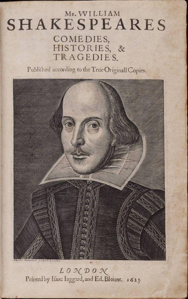 Портрет Шекспира в Первом фолио