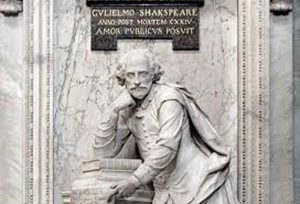 Памятник Шекспиру в Вестминстерском аббатстве