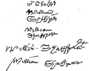 Подлинные подписи Шекспира