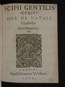 Поэма Nereus, посвящённая рождению Елизаветы Сидни