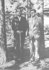 И. Гликман и Д. Шостакович Комарово, 1954 г. Фото Н.В. Шостакович