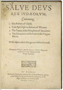 Титульный лист книги Эмилии Лэньер