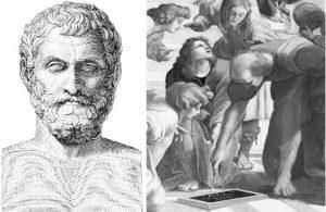 Так выглядели Фалес и Евклид (с учениками) в воображении благодарных потомков