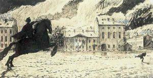 Эскиз иллюстрации А.Н. Бенуа к поэме