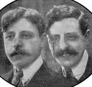 Макс Фишер, 1880-1957 (слева) и Алекс Фишер, 1881-1935.