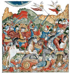 Куликовская битва, миниатюра XVII века