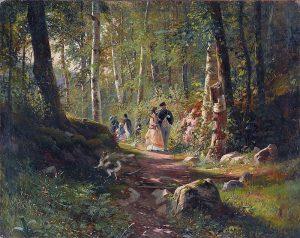 И.И. Шишкин. Прогулка в лесу