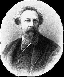 Портрет А.К. Толстого (1817 — 1875) из Энциклопедического словаря Ф.А. Брокгауза и И.А. Ефрона