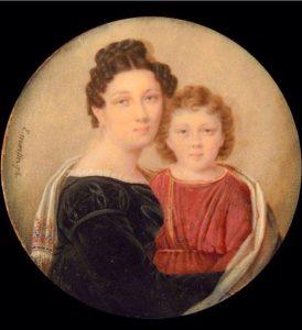 Анна Алексеевна Перовская-Толстая с сыном Алексеем