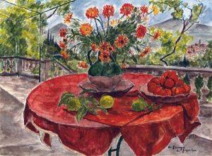 Красный стол