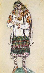 Н. Рерих. Эскиз костюма к балету «Весна священная» 1912г.
