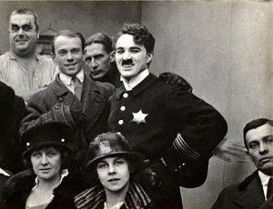 Голливуд. В. Нижинский и Чарли Чаплин. 1916г.
