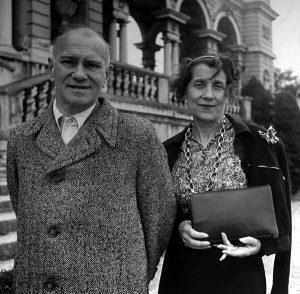 Вацлав Нижинский с женой Ромолой. Вена. 1945 г.