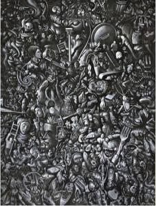 Рис.29. Dye is cast (Окраска произведена), 1991
