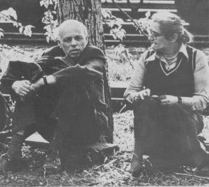 А.Д.Сахаров и Е.Г.Боннэр перед судом над Юрием Орловым, Люберцы, май 1978г.