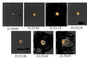 Искусственная натриевая комета на расстоянии 140000 от Земли. Фотография В.Ф. Есипова (1933- 2021 гг)