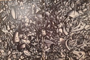 Рис.1 Обложка (фрагмент картины Атлантида 20-го века, 1991