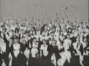 Рис.12. Пионерский костер, 1986