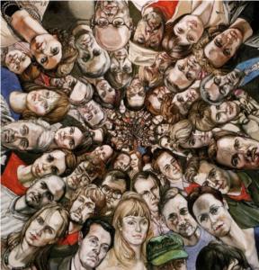Рис.36. М. Ромадин. Гиперпространство (Вращающаяся картина), 2000