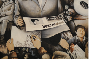 Рис. 39. У картины, 1987(фрагмент)