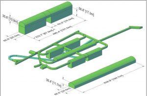 Рис.13. Размеры полостей эксперимента DUNE.