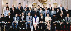 Награждённые «Защитники свободной России» с Б.Н. Ельциным